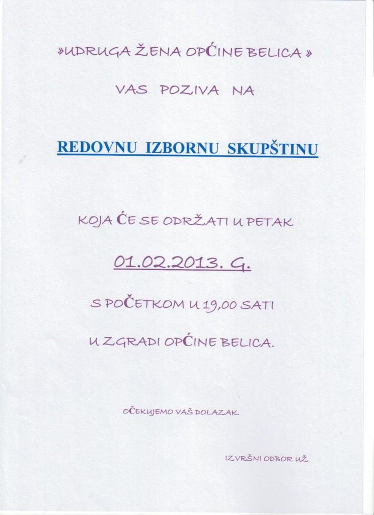 Udruga žena redovna izborna skupština