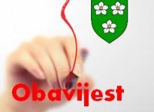 Obavijest Općinskog suda u Čakovcu