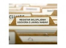 Registar sklopljenih ugovora o javnoj nabavi velike vrijednosti