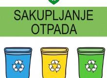 Obavijest o podjeli kanti i vreća za odvoz otpada