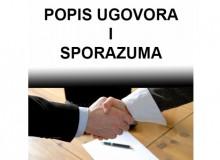 Popis ugovora i sporazuma od 1. srpnja do 31. prosinca 2016. godine