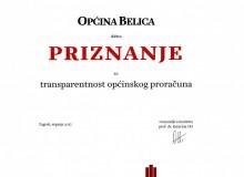 Općina Belica i dalje među najtransparentnijim općinama u Hrvatskoj