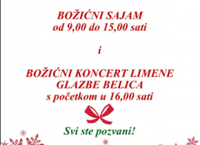 Božićni sajam i Koncert Limene glazbe Belica