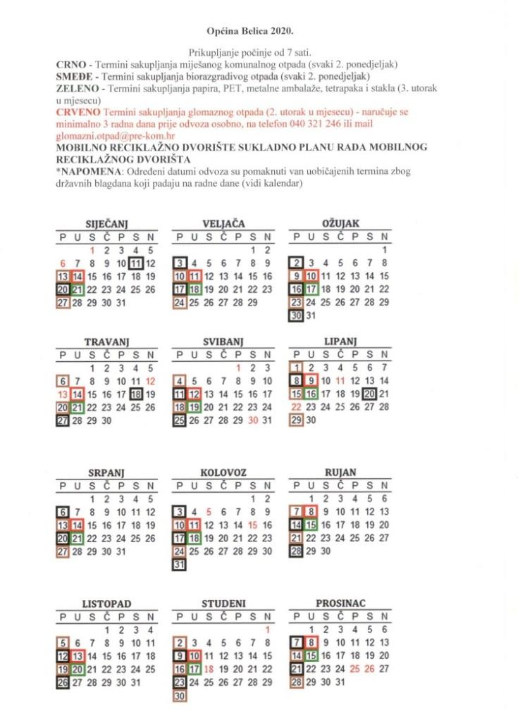 Kalendar odvoza otpada