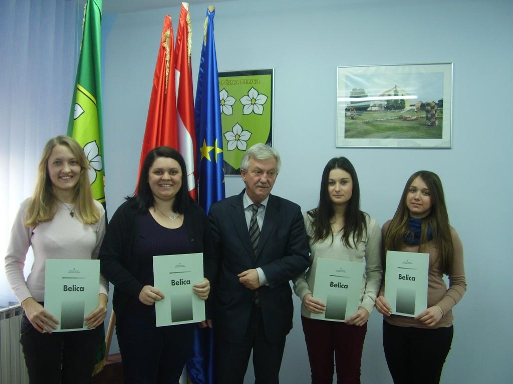Stipendisti Općine Belica (2014. godina)